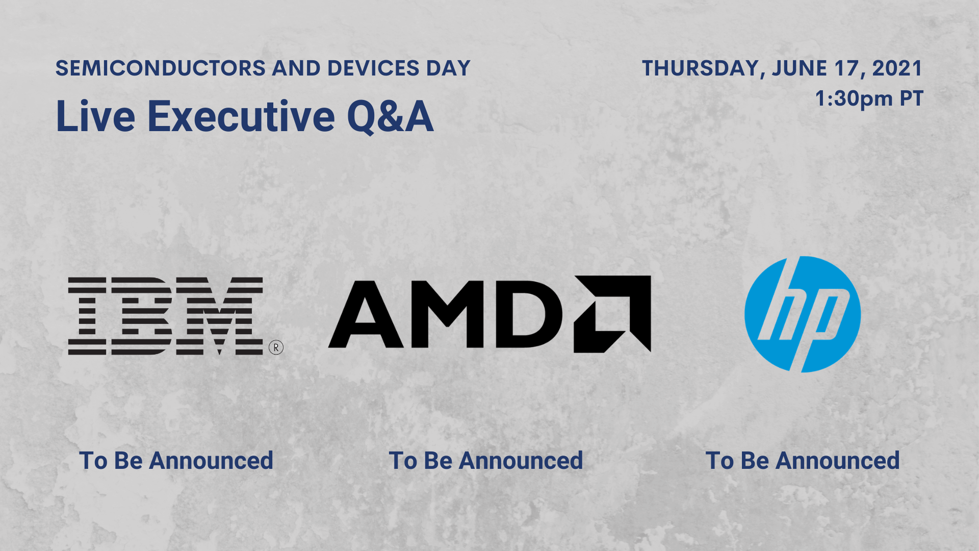 Live Executive Roundtable with executives from AMD, HP, and IBM