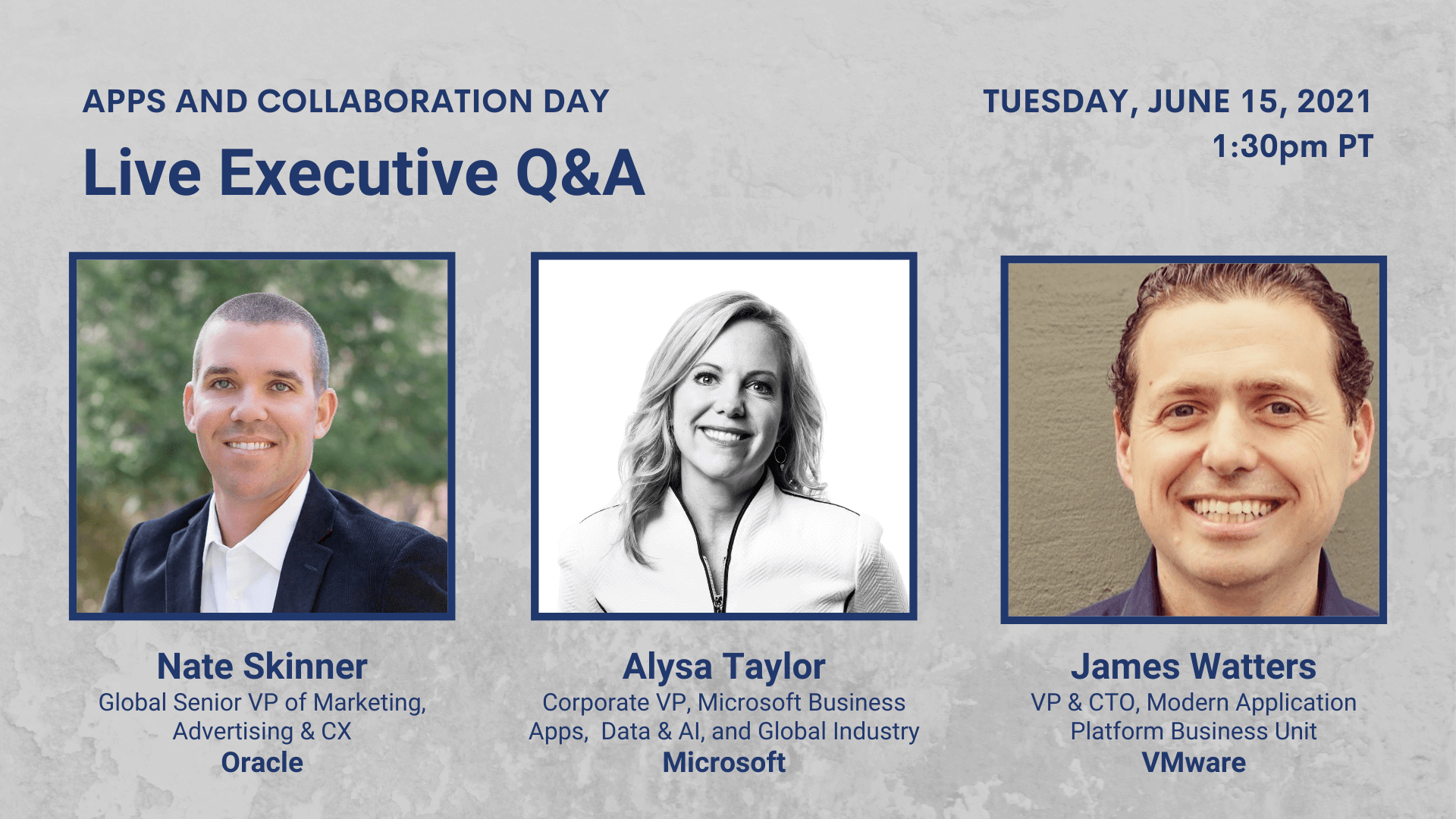 Day 2 Live Executive Q&A — Nate Skinner, Alysa Taylor, James Watters